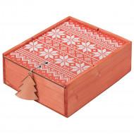 Коробка деревянная «Скандик», большая, красная