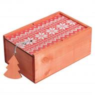 Коробка деревянная «Скандик», малая, красная