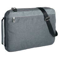 Конференц-сумка 2 в 1 twoFold, серая с темно-серым