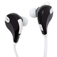 Cпортивные Bluetooth наушники Vatersay, черные с белым