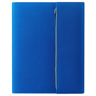 """Папка А4  """"PATRIX""""  с блокнотом и карманом  на молнии, синяя, полиэстер 600D"""