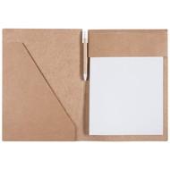 Папка Fact-Folder формата А4 c блокнотом, крафт