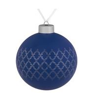 Елочный шар King, 10 см, синий