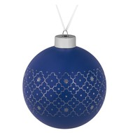 Елочный шар Chain, 10 см, синий