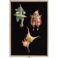 Набор из 3 елочных игрушек Circus Collection: барабанщик, акробат и слон