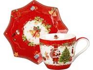Чайная пара «Санта Клаус», красный